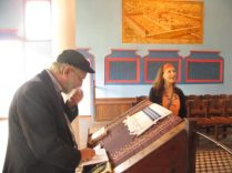 Eitan & Greta in Synagogue