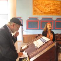 Eitan & Greta in Synagogue